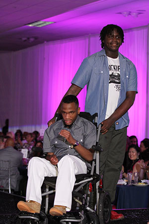 Helping Restore Ability client CJ and his caregiver Caleb